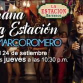 Marco Romero. Conciertos en la Estación de Barranco, Lima. Todos los jueves hasta el 17 dic.
