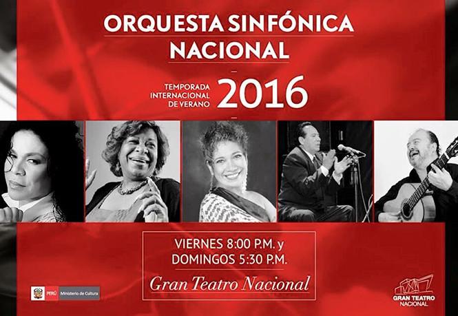 Cultores criollos junto a la Orquesta Sinfónica Nacional
