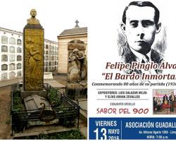 Homenajes a Felipe Pinglo al cumplirse 80 años de su muerte