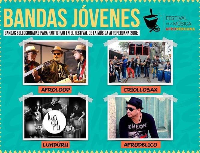 Junio:  Promoverán bandas jóvenes de música afroperuana