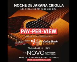 Carlos Rincón y Los Avilés celebrarán Fiestas Patrias con una jarana virtual