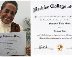 Susana Baca recibe título honoris causa de la Universidad de Berklee