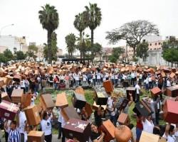 Más de mil cajones retumbaron en el Rímac, de Malambo para el mundo