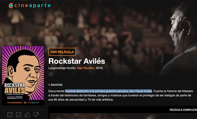 Rockstar Avilés se puede ver en todo el mundo a través de Cineaparte.com
