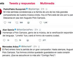 Presidente PPK y Premier Aráoz despiden a Polo Campos