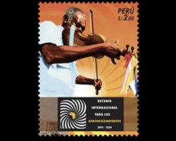 Presentan sello postal de temática afroperuana